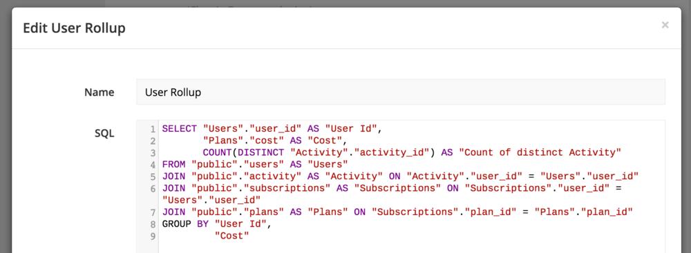 SQL example